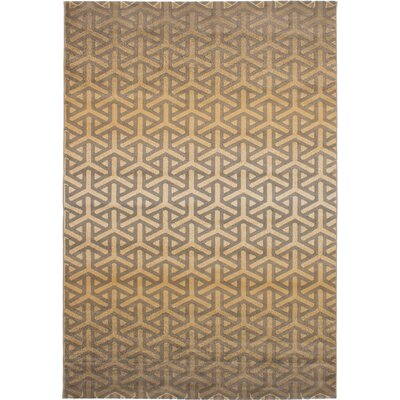 Harden Machine Woven Beige/Brown Area Rug