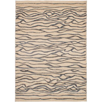 Hardesty Beige/Dark Gray Area Rug