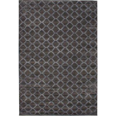Metzler Machine Woven Dark Gray Area Rug