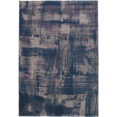 Grogg Dark Blue/Light Gray Area Rug