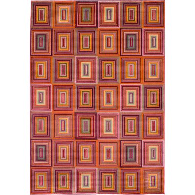 Partee Red Area Rug