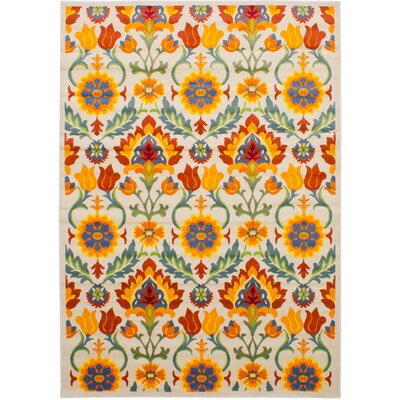 Peralez Orange/Red Area Rug