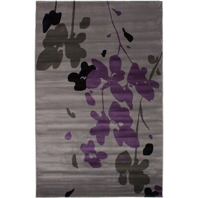 Maclean Gray/Purple Area Rug