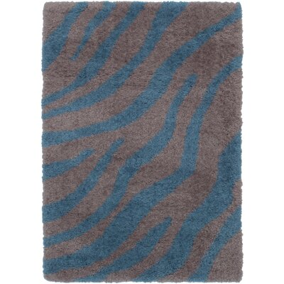 Partin Gray/Turquoise Area Rug