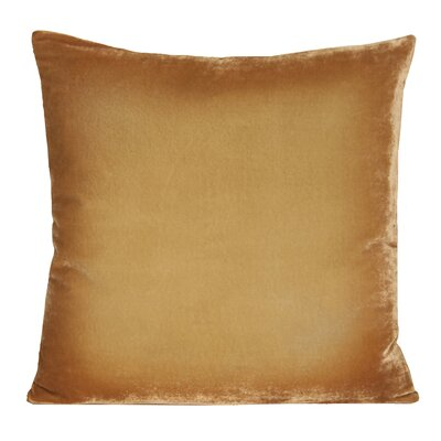 Ombre Velvet Throw Pillow Color: Gold/Beige