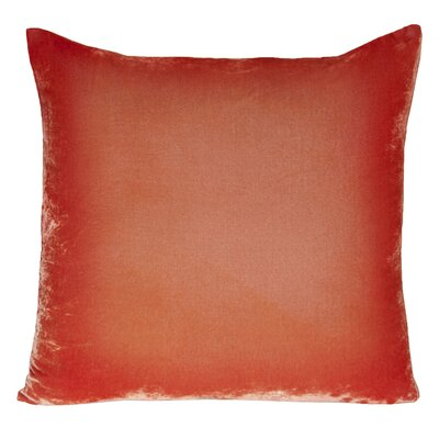 Ombre Velvet Throw Pillow Color: Coral
