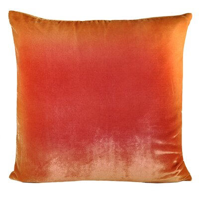 Ombre Velvet Throw Pillow Color: Pink/Gold