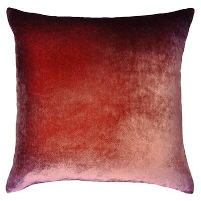 Ombre Velvet Throw Pillow Color: Boysenberry