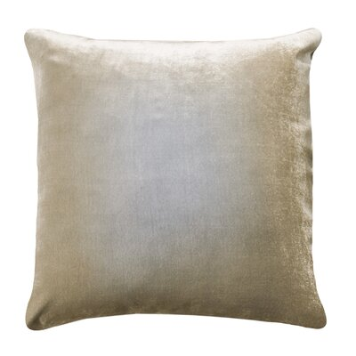 Ombre Velvet Throw Pillow Color: Nickel