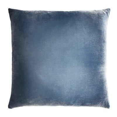 Ombre Velvet Throw Pillow Color: Denim