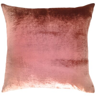 Ombre Velvet Throw Pillow Color: Desert Rose