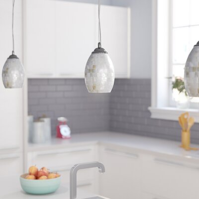 Roberts 1-Light Mini Pendant Shade Color: White