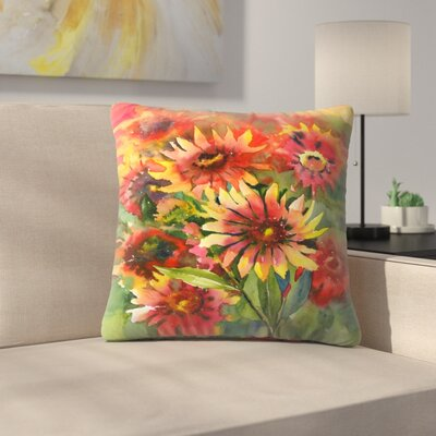 Blanket Flowers Throw Pillow Size: 20 x 20