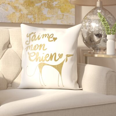 Becker Mon Chien Throw Pillow