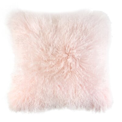 Ewalt Decorative Lambs Wool Throw Pillow Color: Blush