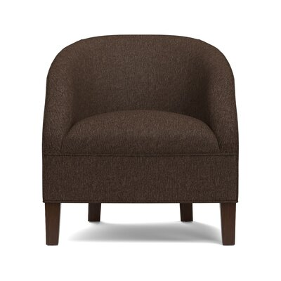Mouros Barrel Chair Upholstery: Chocolate Brown