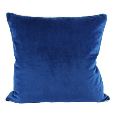 Norris Plush Velvet Pillow Cover Color: Blue