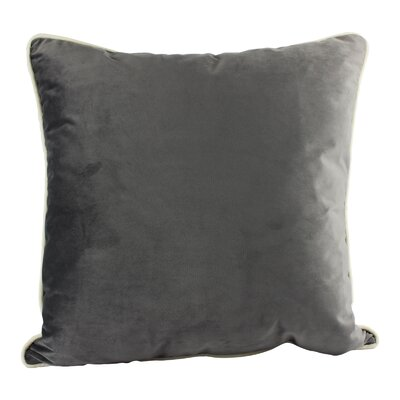 Norris Plush Velvet Pillow Cover Color: Gray