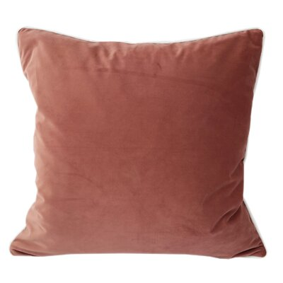 Norris Plush Velvet Pillow Cover Color: Pink