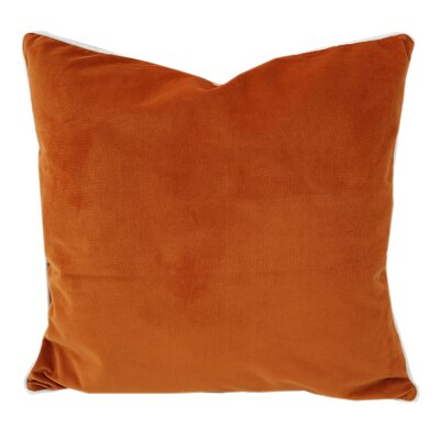Norris Plush Velvet Pillow Cover Color: Orange