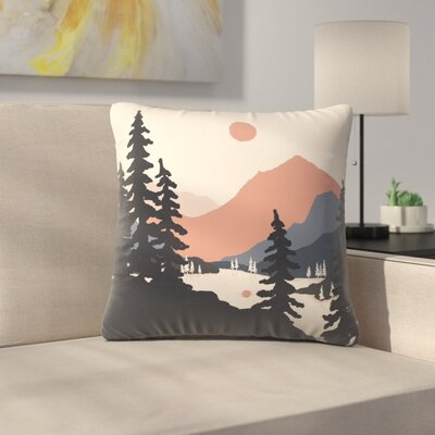 View From The East Shore Throw Pillow Size: 16 x 16