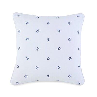 Skipjack Square Cotton Throw Pillow Color: White