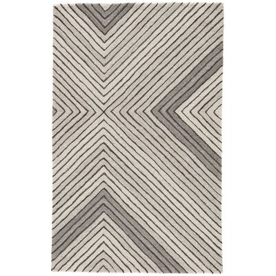 Sarmiento Hand-Tufted Wool Pumice Stone/Steeple Gray Area Rug Rug Size: Rectangle 5 x 8
