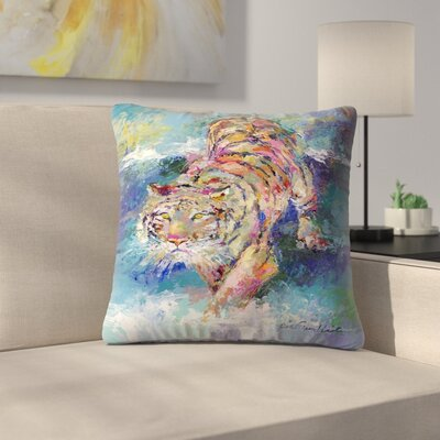 Tiger1 Throw Pillow Size: 14 x 14