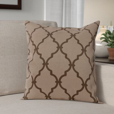 Reuter Trellis Throw Pillow Size: 16 H x 16 W, Color: Ginger Black