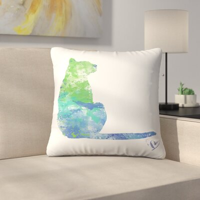 House Cat Throw Pillow Size: 14 x 14