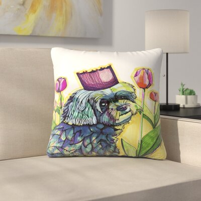 Molly Dog Throw Pillow Size: 18 x 18