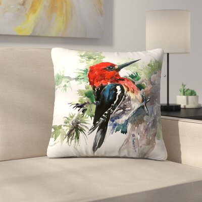 Woodpecker 1 Throw Pillow Size: 16 x 16
