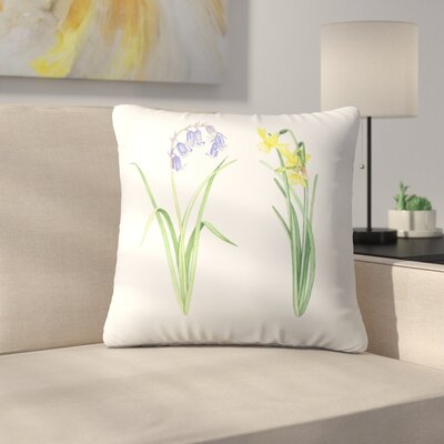 Flowers Throw Pillow Size: 16 x 16