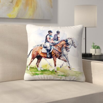 Morning Gallop Throw Pillow Size: 20 x 20