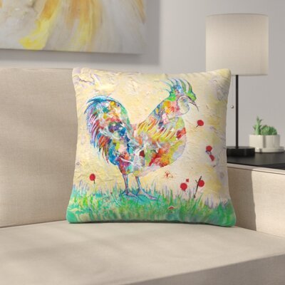 Sunshine Taylor Rooster 2 Indoor/Outdoor Throw Pillow Size: 18 x 18