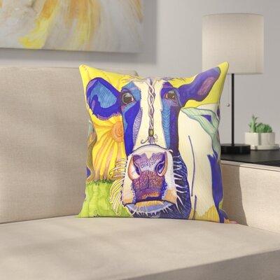 Hippie Cow Asha Throw Pillow Size: 16 x 16