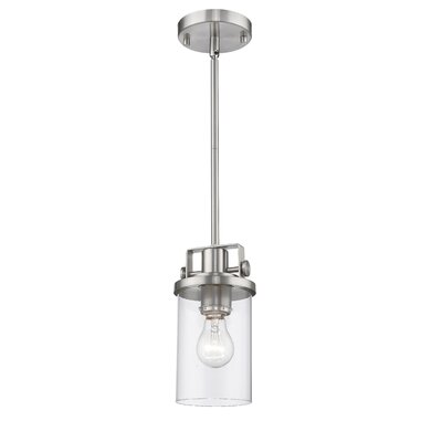 Wishart 1-Light Inverted Pendant Finish: Brushed Nickel