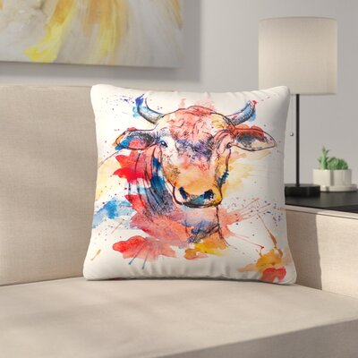 Bull Throw Pillow Size: 14 x 14