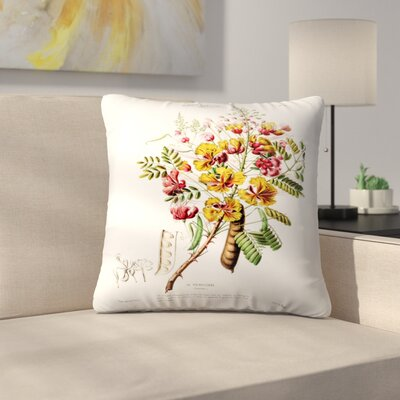 Flored Amerique Lapoincillade Throw Pillow Size: 20 x 20