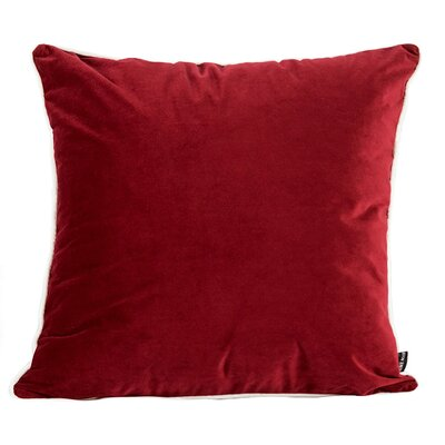 Norris Plush Velvet Pillow Cover Color: Red