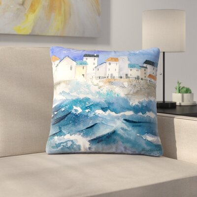 Stormy Harbour Throw Pillow Size: 16 x 16