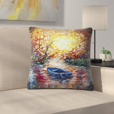 Olena Art Impression Sunset Throw Pillow Size: 16