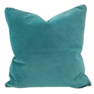 Norris Plush Velvet Pillow Cover Color: Turquoise