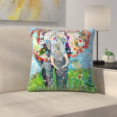 Sunshine Taylor Elephant Indoor/Outdoor Throw Pillow Size: 16 x 16