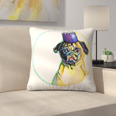 Pug Ester Throw Pillow Size: 16 x 16