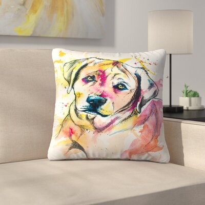 Colorful Lab Mix Throw Pillow Size: 18 x 18