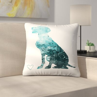 German Shorthair Pointer Throw Pillow Size: 18 x 18