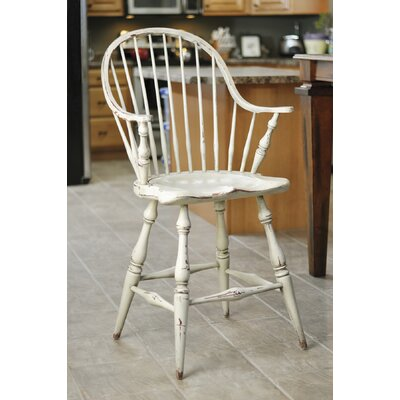 Galles 24 Bar Stool Color: Parchment