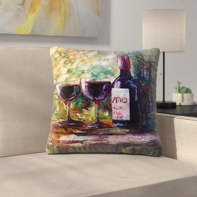 Olena Art Aged Wine Throw Pillow Size: 16 x 16
