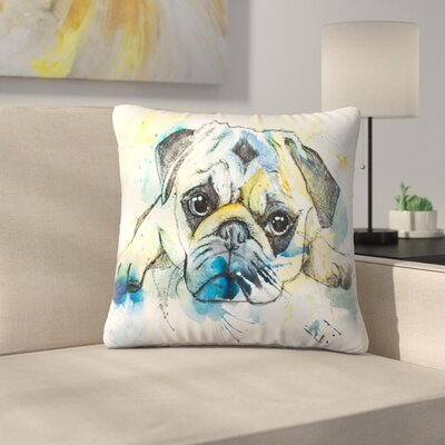 Pug Throw Pillow Size: 14 x 14